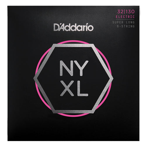 D'Addario NYXL32130SL Nickel Wound Bass Guitar Strings, Regular Light 6-String, 32-130, Super Long Scale