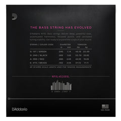D'Addario NYXL45100SL Nickel Wound Bass Guitar Strings, Regular Light, 45-100, Super Long Scale