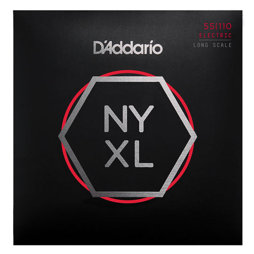 D'Addario NYXL55110 Nickel Wound Bass Guitar Strings, Heavy 55-110, Long Scale