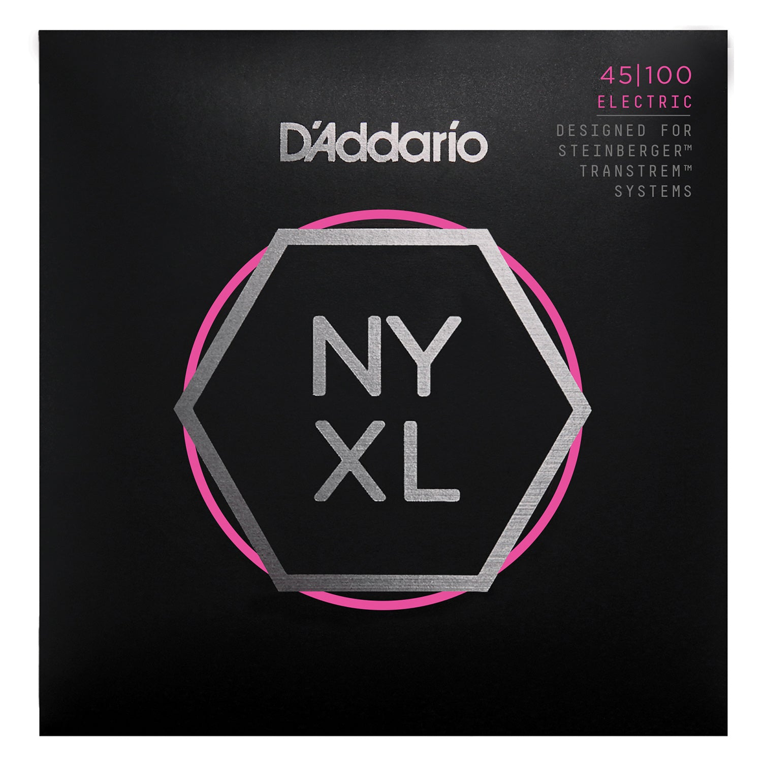 D'Addario NYXLS45100 Nickel Wound Bass Guitar Strings, Regular Light, 45-100, Double Ball End, Long Scale