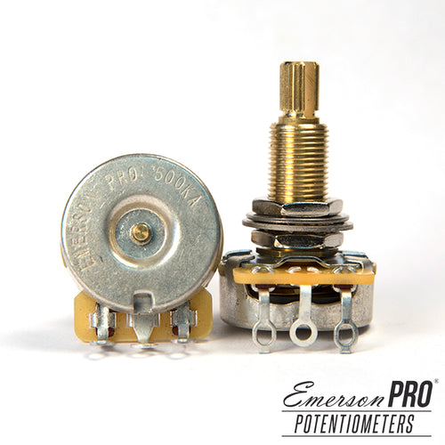 Emerson Pro CTS 500K Long Split Shaft Potentiometer