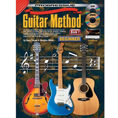 Progressive Guitar Method Book 1 w/ Online Media