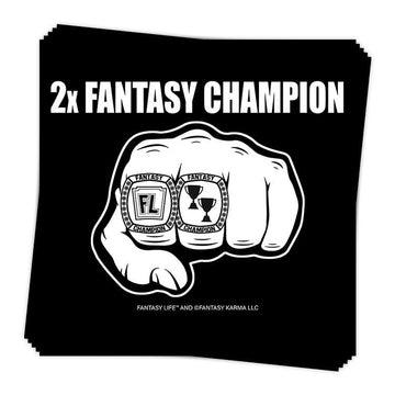 2x Fantasy Champion Sticker