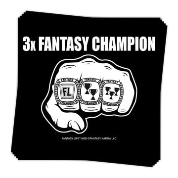 3x Fantasy Champion Sticker