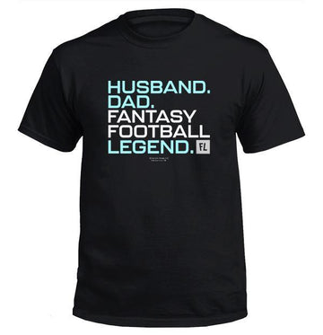 Husband Dad Fantasy Football Legend - Blue Version - Apparel