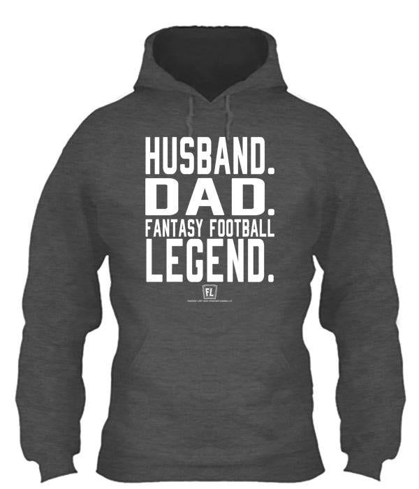 Husband Dad Fantasy Football Legend Apparel