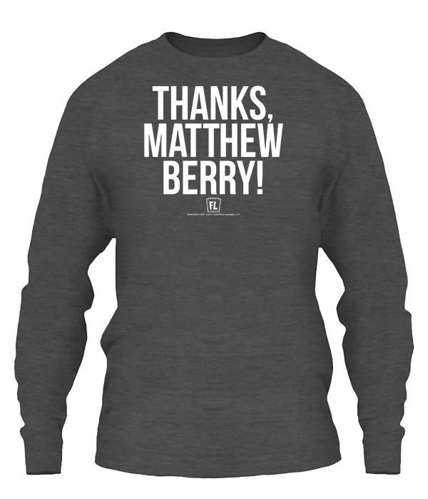 Thanks Matthew Berry Apparel