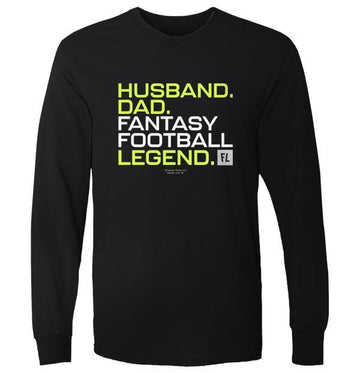 Husband Dad Fantasy Football Legend - Yellow Version - Apparel