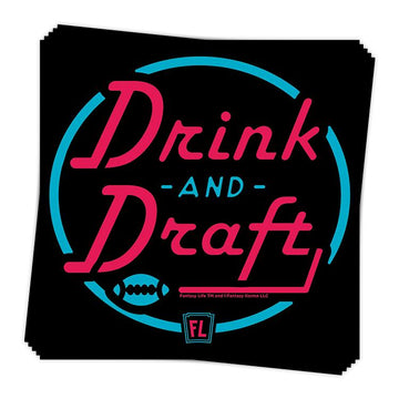 Drink and Draft Sticker