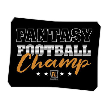 Fantasy Football Champ Sticker