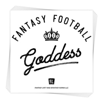 Fantasy Football Goddess Sticker