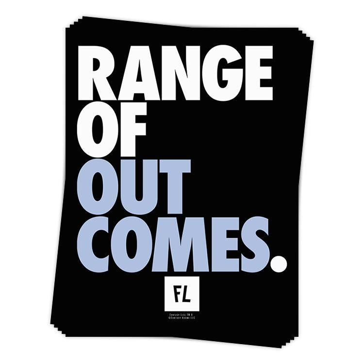 Range of Outcomes Sticker