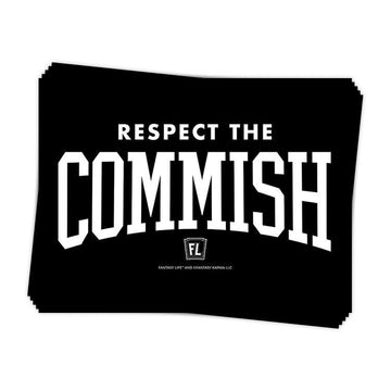 Respect the Commish Sticker