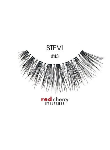 RED CHERRY EYELASHES - STYLE #43 STEVI