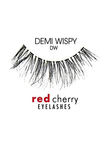RED CHERRY EYELASHES - STYLE DW DEMI WISPY