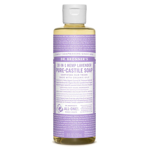 Dr. Bronner's Pure Castile Liquid Soap - 8oz
