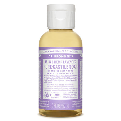 Dr. Bronner's Liquid Castile Soap 2z - Brush Cleaner