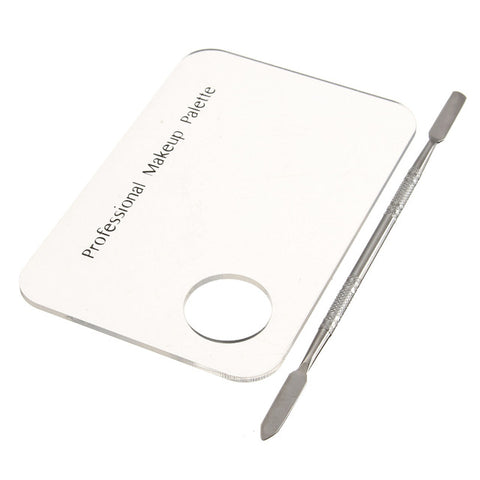 Transparent Mixing Plate with Spatula