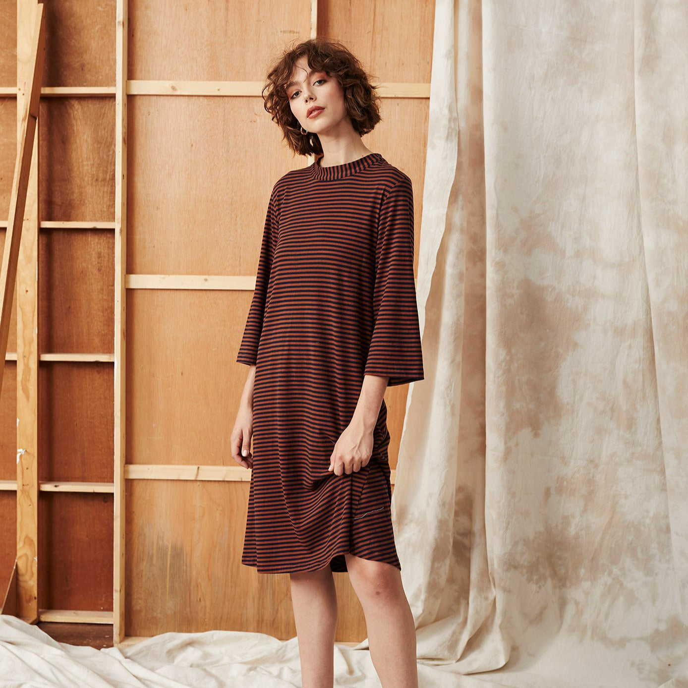 Camp Cedar Dress - Stripe
