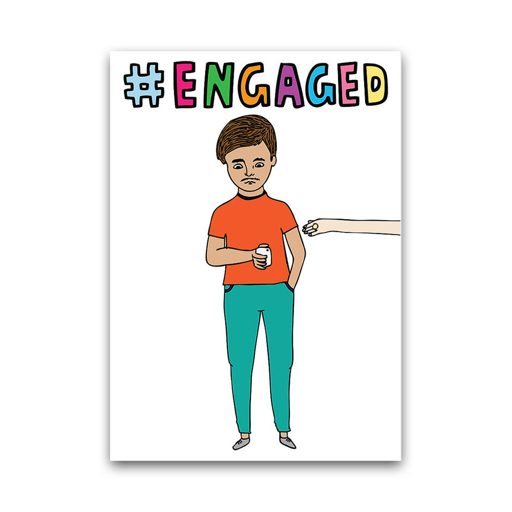 Hashtag Engaged - Card