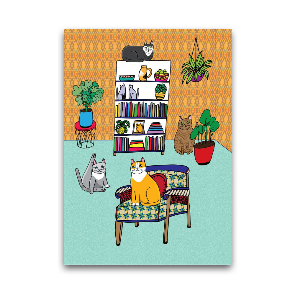 Cats Living Room - Card