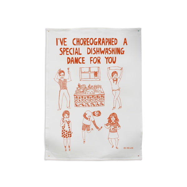 Tea Towel - Dishwashing Dance