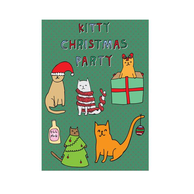 Kitty Christmas Party - Card
