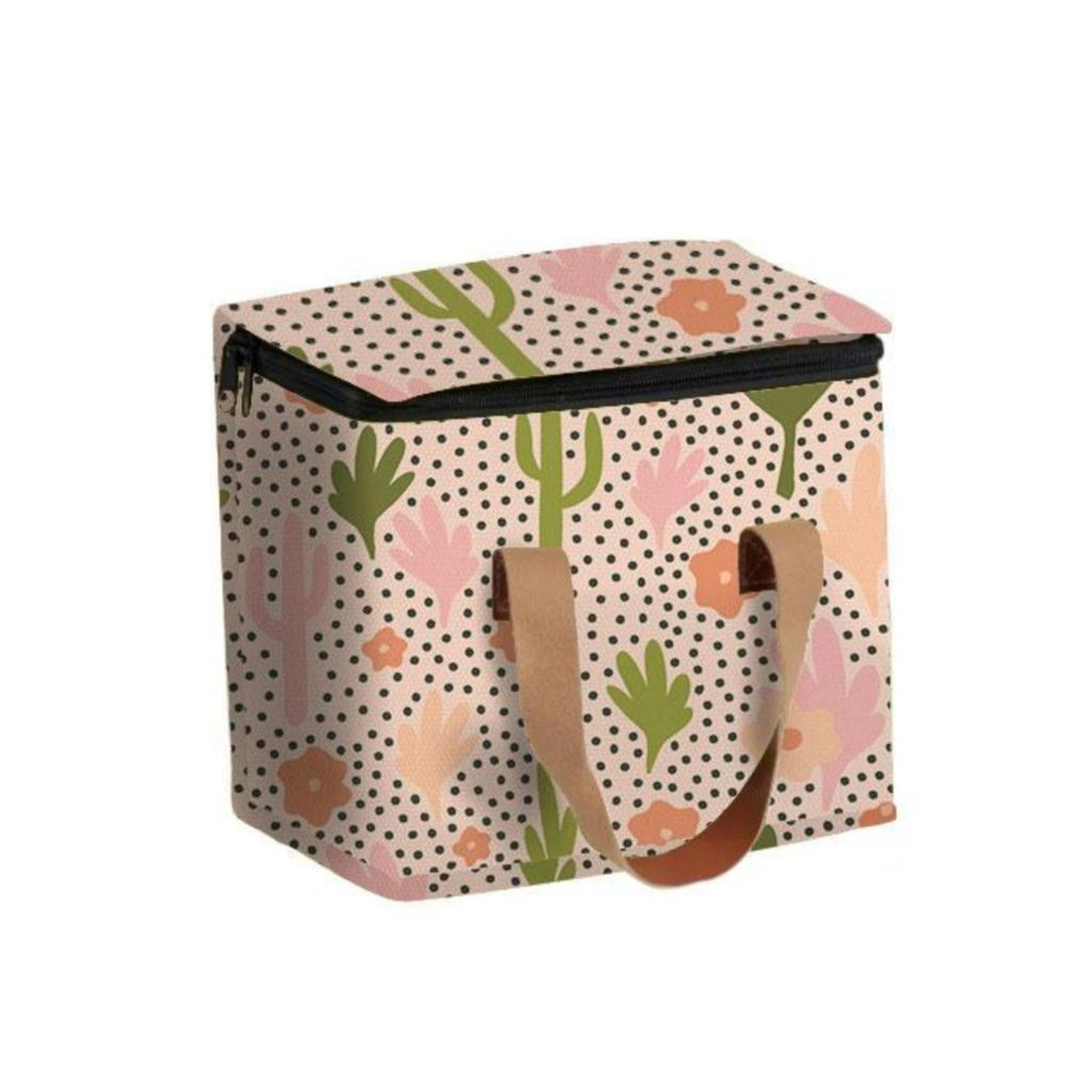 Blooming Cacti Lunch Bag (Square)