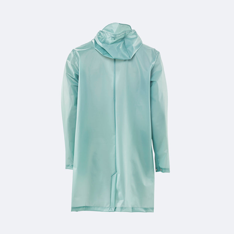 Rains Hooded Coat - Foggy Dusty Mint