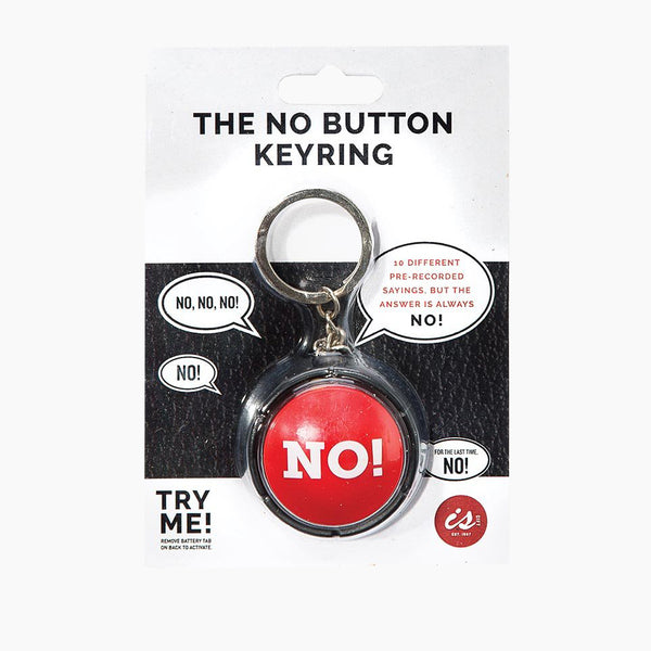 The No! Button Keyring