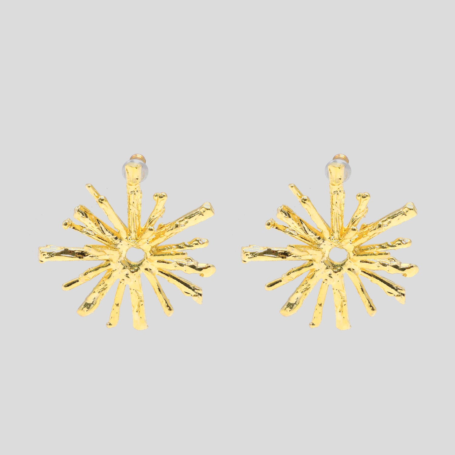 Jagged Star Earrings - Gold