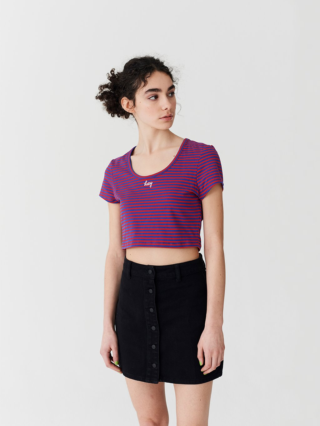 Lazy Stripe Fitted T-Shirt - Multi