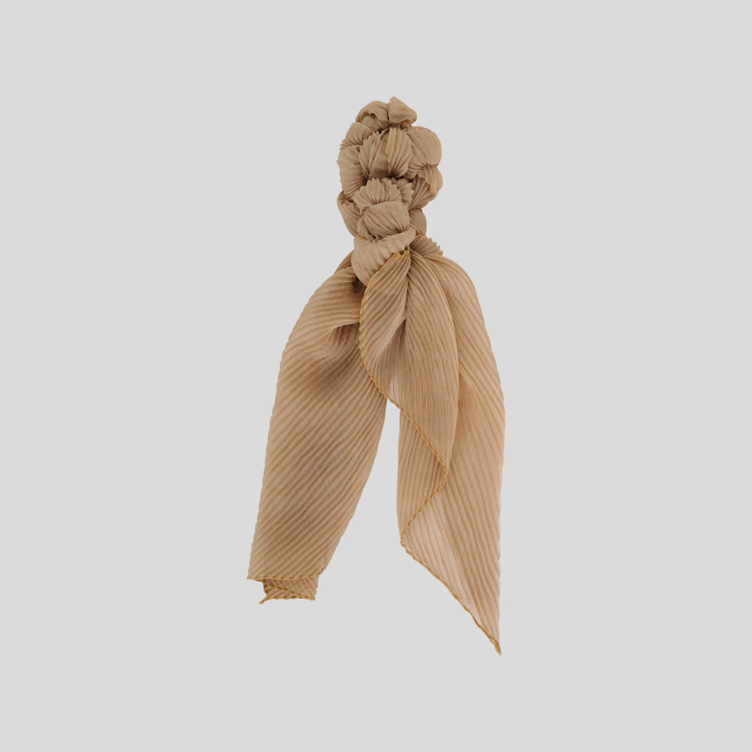Pleated Scarf - Beige