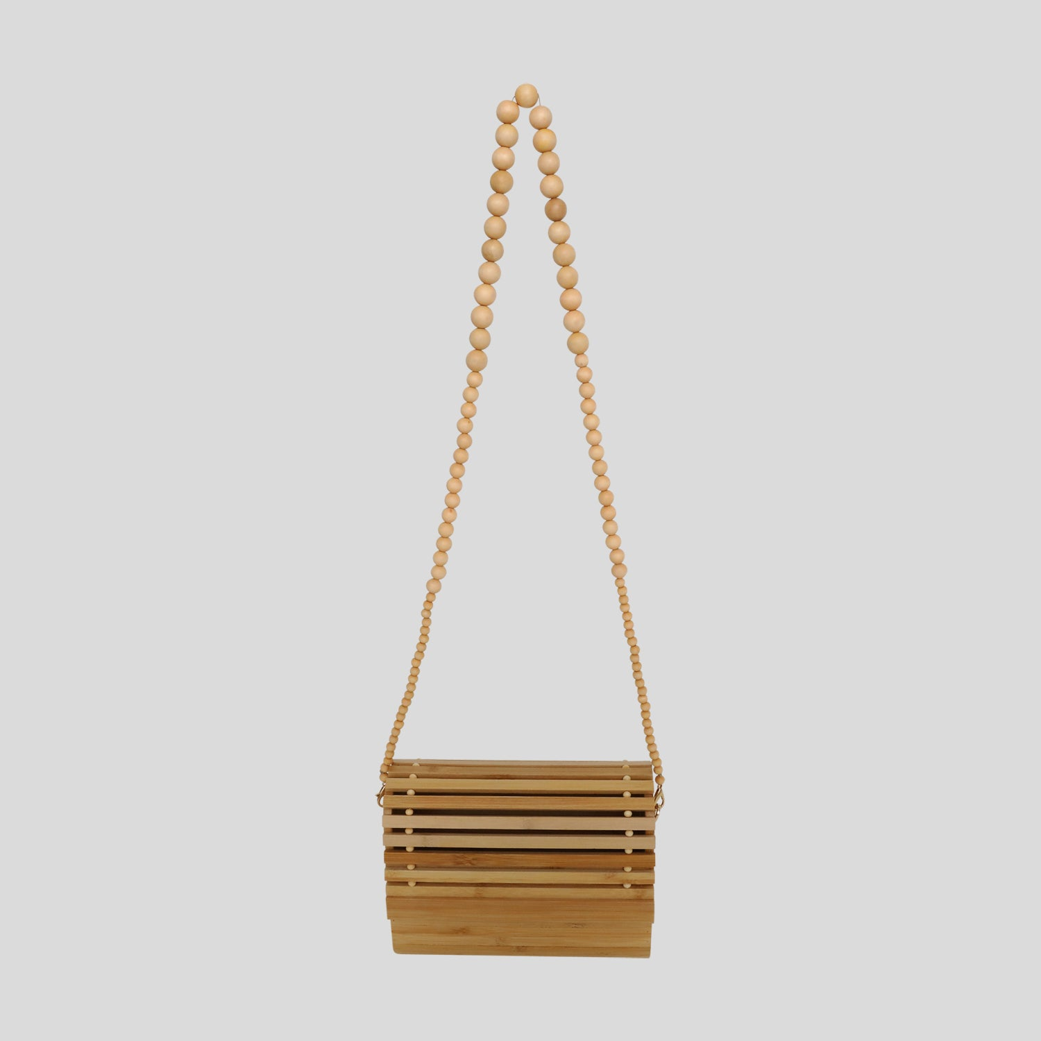 Katrina Bambo Roll Purse - Natural