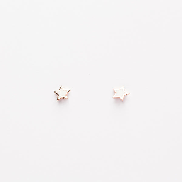 Mini Star Studs - White