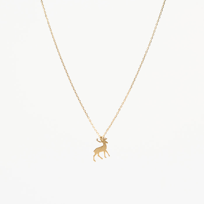 STAG NECKLACE - GOLD