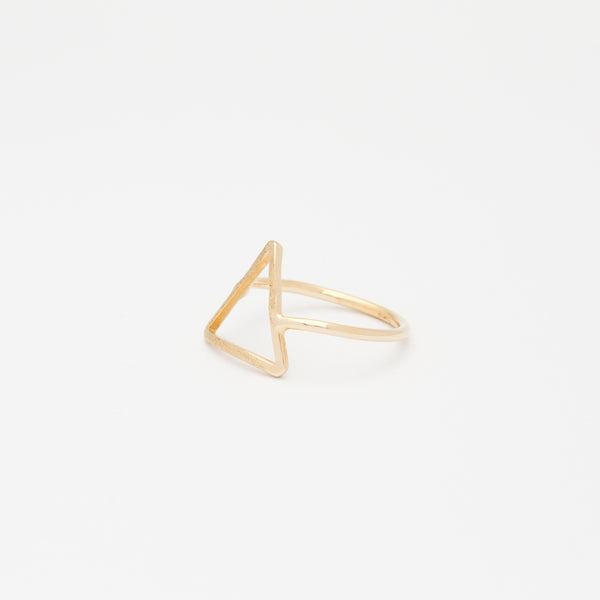 Triangle Outline Ring - Gold