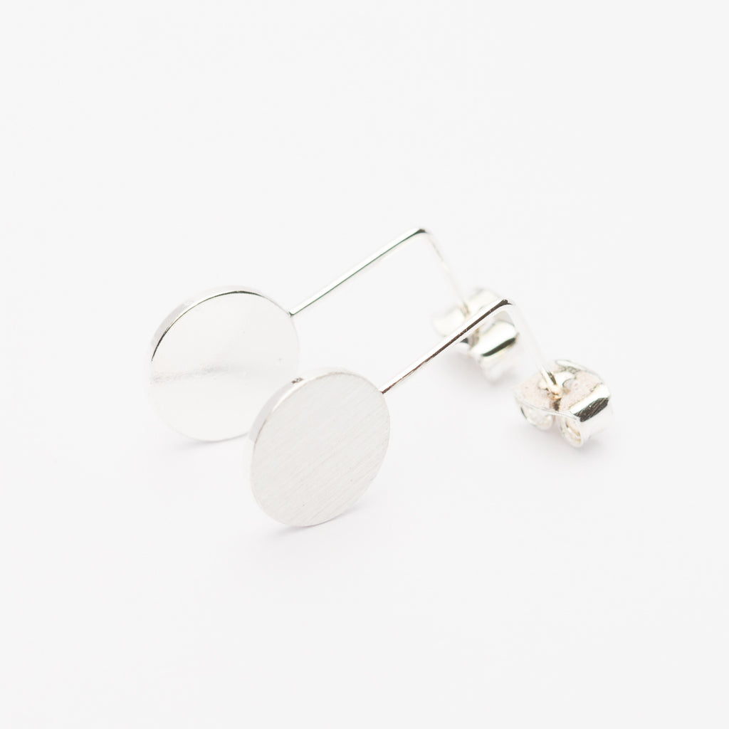 LITTLE CIRCLE EARRINGS - SILVER