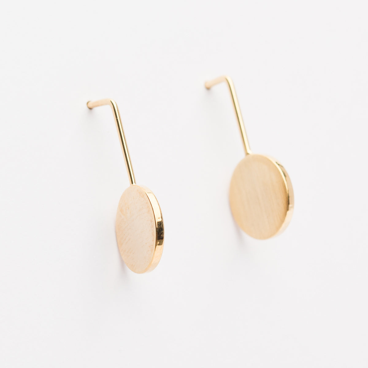 Drop Circle Earrings - Gold