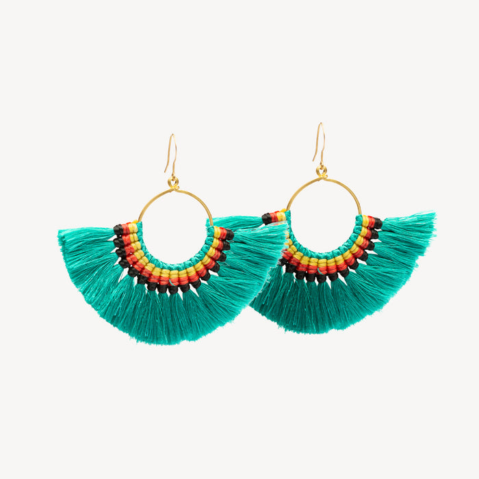 ISLANDER EARRINGS - GREEN