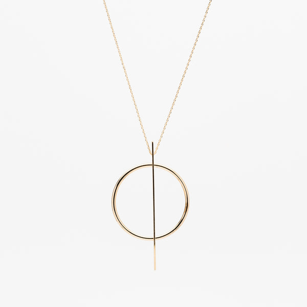 Split Circle Necklace - Gold