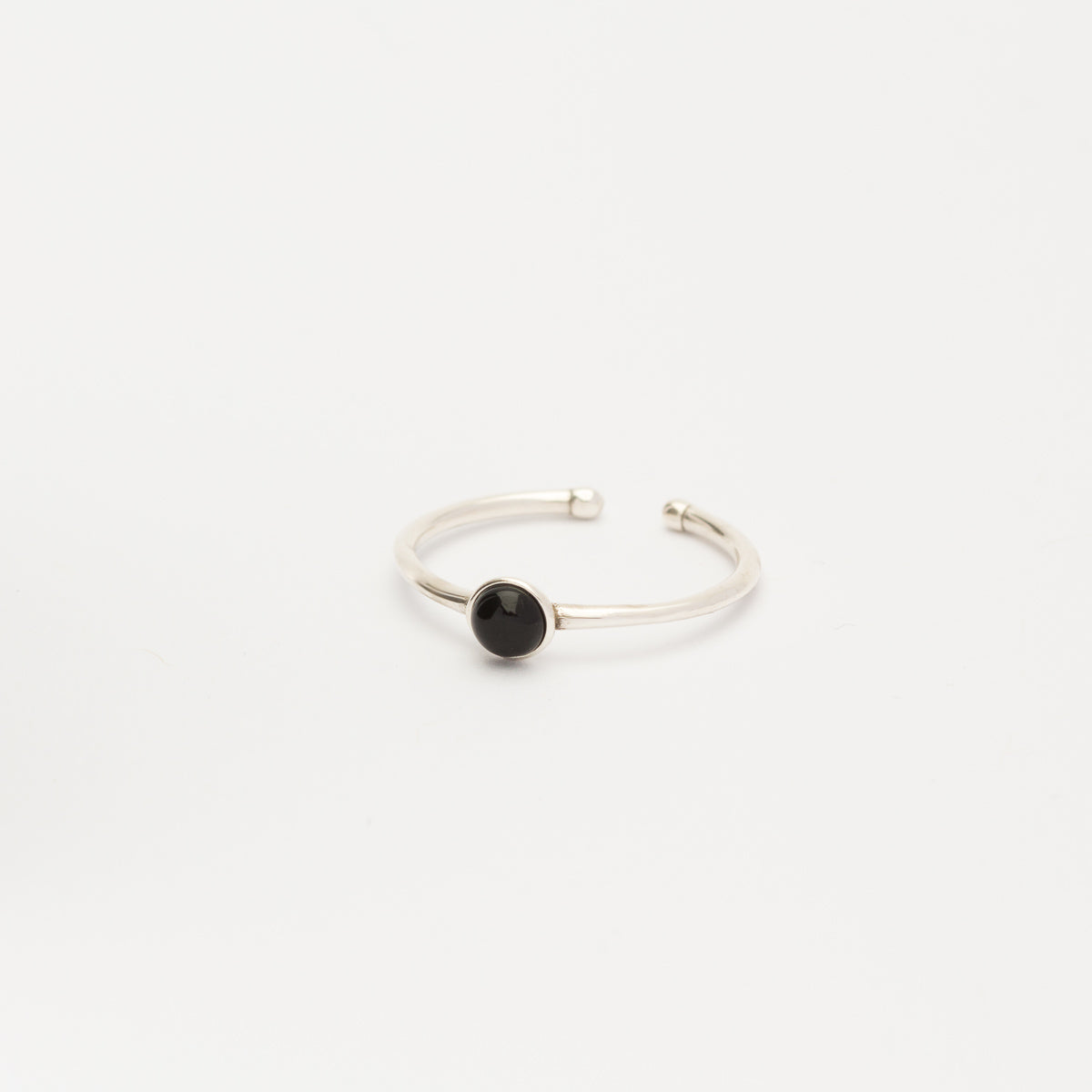 Sterling Silver - Black Ring