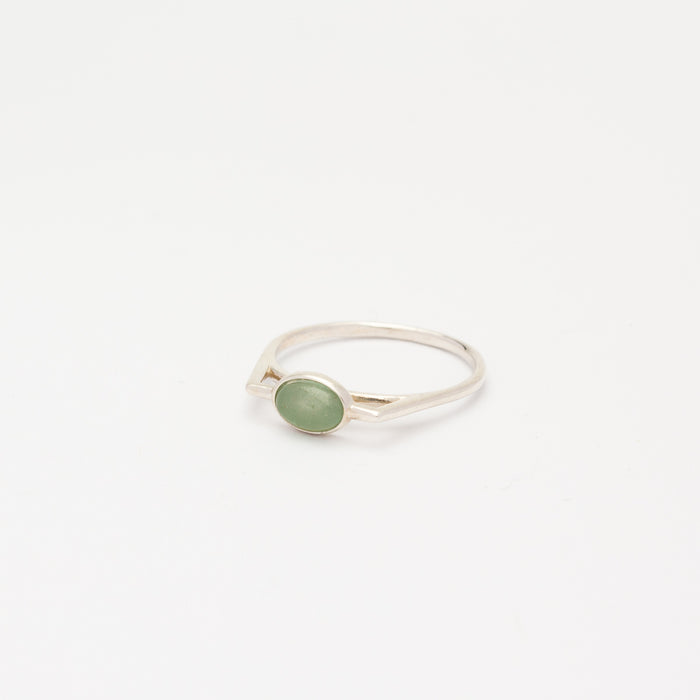 STERLING SILVER - BLUE SEGMENT RING