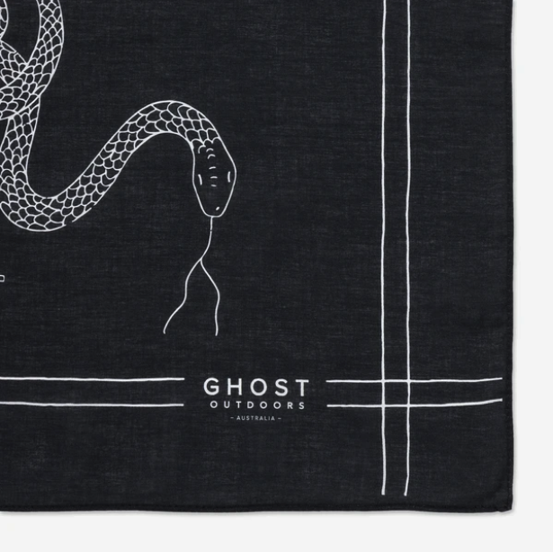Bush Bandana - Charcoal Serpent