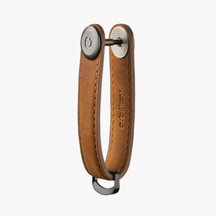 Leather Orbitkey - Crazy Horse Chestnut