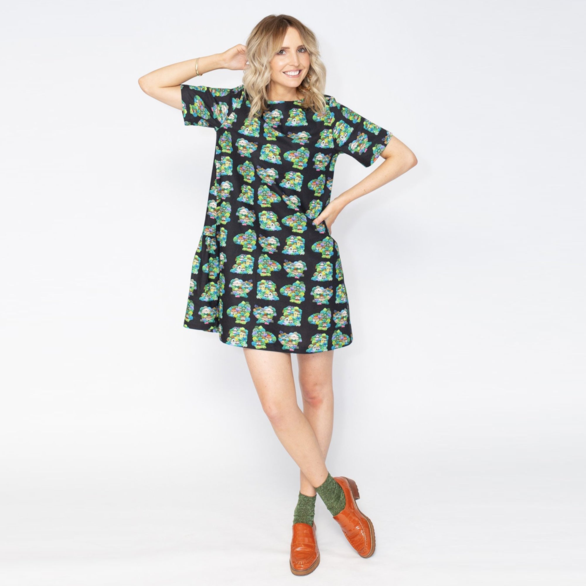 Summer Confetti Frill Dress