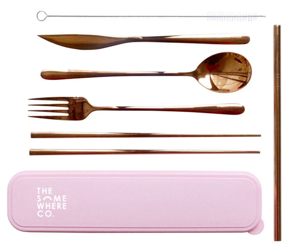 Take Me Away Cutlery Kits - Rose Gold