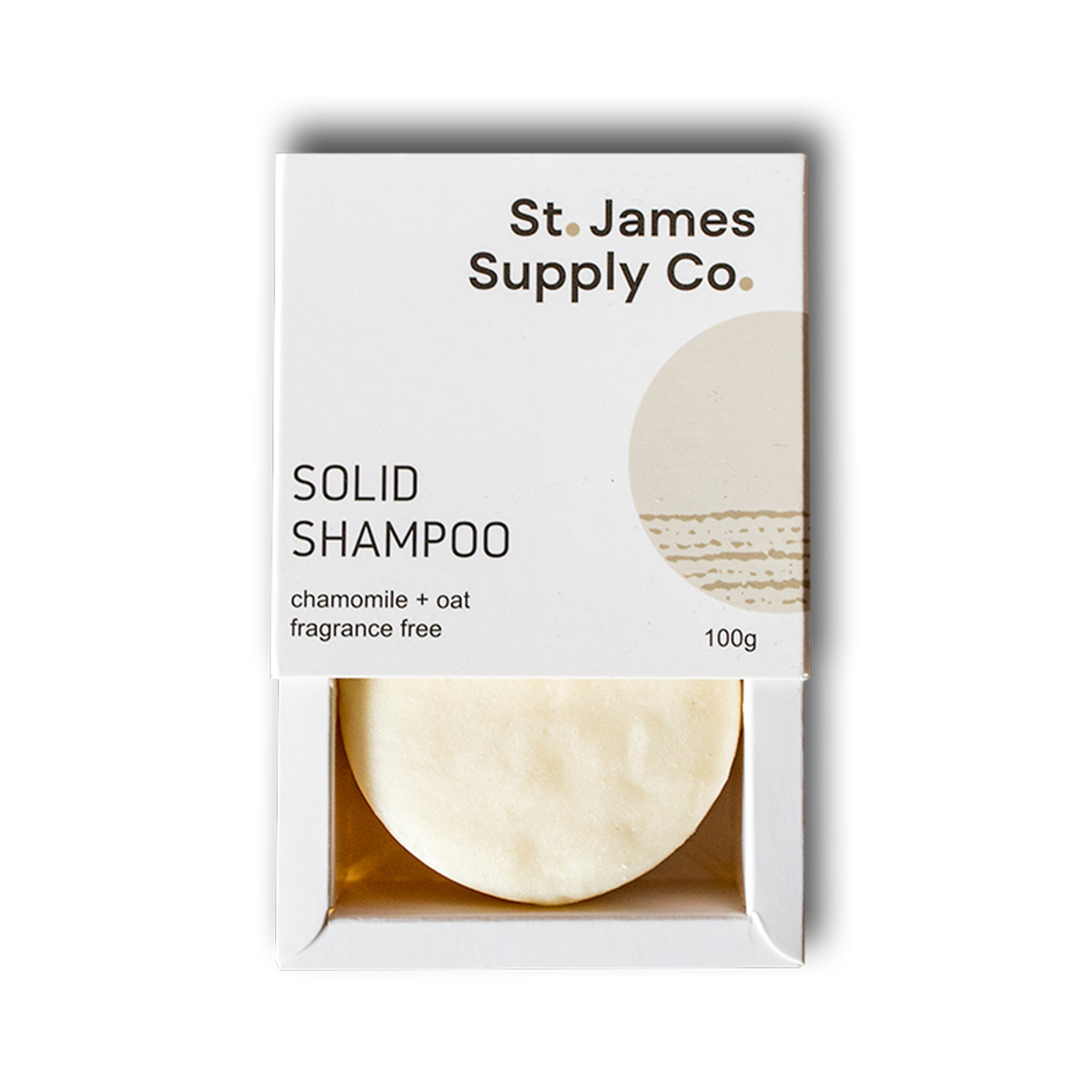 Scent Free Chamomile and Oat Shampoo Bar
