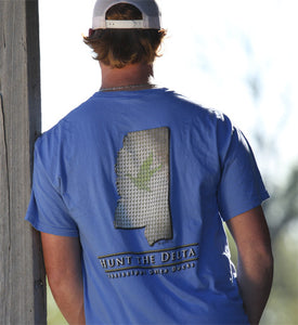Duck Print Series Weathered Mississippi Short Sleeve t-shirt
