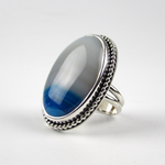 Blue & White Cocktail Ring - Oddbox Studio